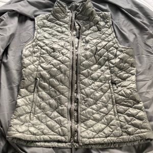 north face thermoball silver vest
